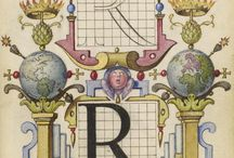 The letter R / The letter R in typography
