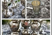 SILVER Tablescapes / shiny & silver