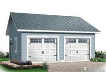 Garage. Exterior. Outdoor Decor. / Outside of the 4 walls of the home. Garage, shed, lighting, hardscape..etc.. / by Hey Chickie/ Erica Melone