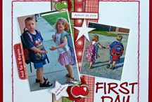 School Days Scrapbooking Page Ideas
