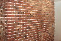 ściana  cegła