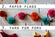 Let's Party - Garlands, Bunting, Streamers
