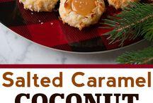 Salted Coconut Caramel Cookies