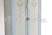 malowane szafy