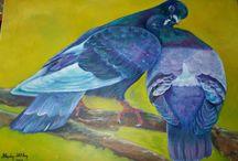 My oil paintings works... / Bu yıl başladım resme...İlk çalışmalarım....