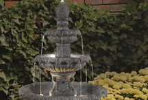 Outdoor Fountains, Yard Ornaments and Accent Pieces / Add the sound and beauty of water to your outdoor space to compliment your garden's decor.  Here's a great compilation of outdoor fountains, accent pieces, and products, all providing focal points and interest to your entertainment area. / by Homeclick.com