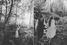 Retro / Retro wedding, how beautiful it can be... love, forest, yurt!