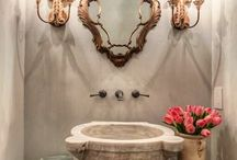 Powder room... / So many ideas....