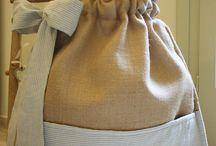 Christening Bags - Τσάντες Βάπτισης / Υφασμάτινες Τσάντες Βάπτισης Με Ιδιαίτερο Στυλ!!!  Elegant Linen Baptism Bags!!!