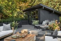 """Decks & Patios / """"A Stylish Outdoor Patio Or Deck Take Our Client's Lifestyles Outdoors.""""  ~ Noir Blanc Interiors"""