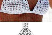 Horgolt bikini felső
