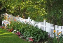 Spaced board fences - vinyl / Beautiful and solid vinyl spaced board fence from AVO Fence and Supply is the perfect choice along the border of your property. It keeps young children and pets safe from the road and other dangers, yet has an open feel. This type of fence will make a lovely backdrop for your garden and enhances the overall appearance of your back or front yard.