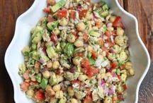 comidas y ensaladas