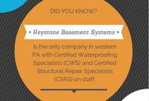 Keystone Basement Systems / Partnerships must be built upon a foundation of trust. Under the guidance of our fearless leader, Aaron Stull, Keystone Basement Systems will be your Partner for Life. That's our promise.  Visit our website, including a blog, for more: www.keystonebasementsystems.com