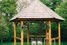 The wedding arbour at Cosawes Barton / Our beautiful hand made wedding arbour - and examples of how our couples have chosen to decorate it for their special day! #ourdoorweddings #gardenceremonies #weddingsinCornwall