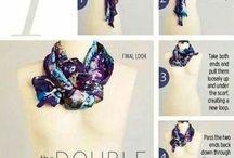 Как красиво завязать шарф или палантин
