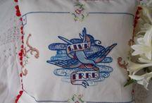 Vintage Linen Cushions / by Viva Violette