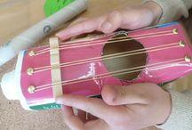 Musikinstrumente aus Müll