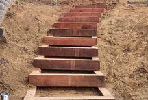 escaleras jardin