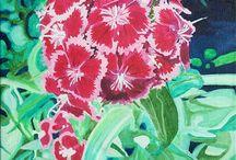 oil paintings of flowers