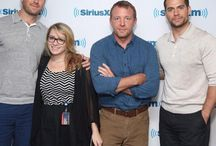 Henry Cavill, Armie Hammer and Guy Ritchie at Sirius XM / Henry Cavill, Armie Hammer and director Guy Ritchie take part in SiriusXM's Entertainment Weekly Radio 'The Man from U.N.C.L.E.' Town Hall at SiriusXM Studios in New York City on August 12, 2015.
