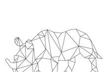 geometrische tiere
