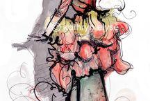 Fashion Sketches & Movie Costumes