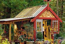 Garden Sheds and Cute Garden Corners