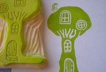 Hand Carved Stamps / by Christina Di Maria