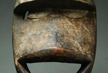 Африканские маски. African wooden masks.