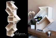 ELECTRA Shelf, design & production by Elisa Berger.com / ELECTRA Wood Modular Shelf, design & production by Elisa Berger.com