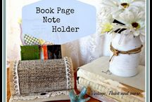 Book Crafts / Crafts made with or for books