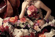 Платья с цветами / Цветочки