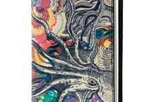 Notebook Cover - Octopus's Garden / Leather Notebook Cover for Women, Limited Edition Designer Leather Notebook Cover COLOURS OF MY LIFE - Limited Edition wearable art signed by Anca Stefanescu.