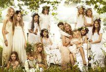 Bridesmaids frocks! / White and virginal