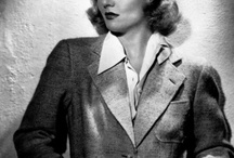 [1930s] ~ man style fashion / ★1920s and 1930s masculine clothing styles for women ★ it wasn't that common for women to wear trousers in the 1920s and 1930s (except for maybe loungewear or beach pajamas), so dressing in daytime men's fashions was a bit rebellious and daring ★