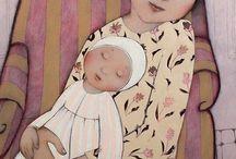 Motherhood / Painting, art, motherhood, childhood, infancy