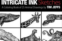 """Detailed Animal Sketches 1 / """"Intricate Ink Sketches"""" Colorist work from my digital download book Available from my Etsy shop here: https://www.etsy.com/listing/476163884 """"Intricate Ink Sketches"""" is my new digital download coloring book.It's a collection of 25 animal drawings available to download, print and color!"""
