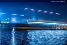 Port nocą / Port w Świnoujściu nocą