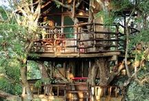 Treehouse Escapes / Whether you're just a big kid at heart or in need of a space to call your own - these spaces are sure to fit the bill!