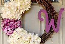 wreaths & door decor / by Joyce Cardwell