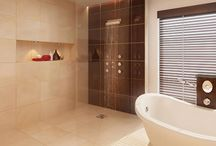 Wet Room Design Ideas / A selection of wet room design ideas from the web to help inspire your own wet room ideas.