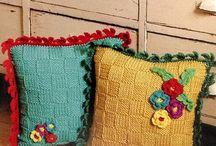 Crochet cover pillows