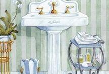 láminas baño