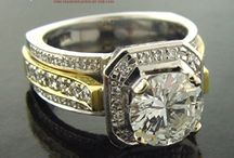 Two tone Diamond Engagement Rings