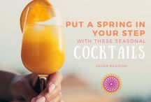 Fruity Spring Cocktails / Laura Baddish's original presentation for the most refreshing and exciting DIY cocktails for the Spring season.