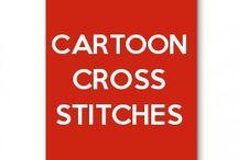 cartoon cross stitches