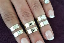 Gold Stacking Rings, Stackable Rings, Stacking Rings Box Set, Stacking Rings Set, Midi Rings, Midi Rings Set,