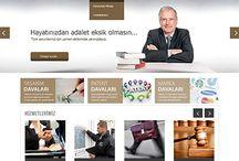Hukuk Sektörü Tasarımları / Web Tasarımı
