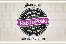 NaBloPoMo  / NaBloPoMo November 2013